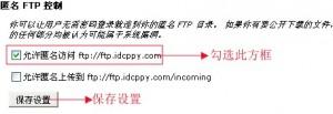 cPanel控制面板设置匿名FTP教程