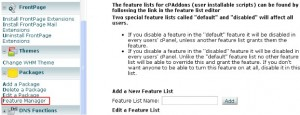 HostGator通过Feature Manager限制Cpanel中显示的图标